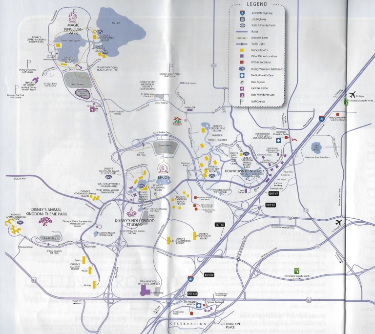 WDW MAP